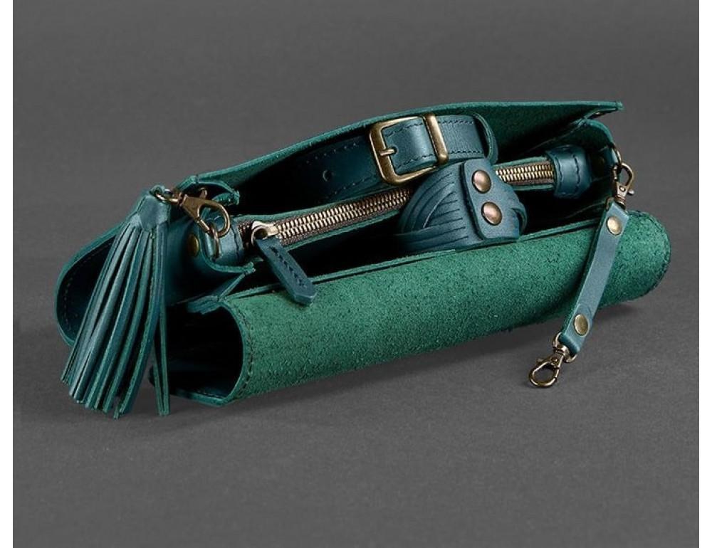 Кожаный клатч Элис blanknote BN-BAG-7-malachite изумруд - Фото № 5