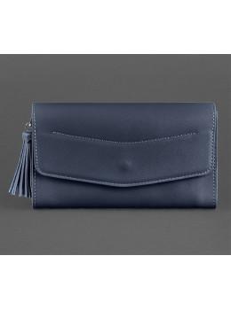 Кожаный клатч Элис blanknote BN-BAG-7-navy-blue тёмно-синий