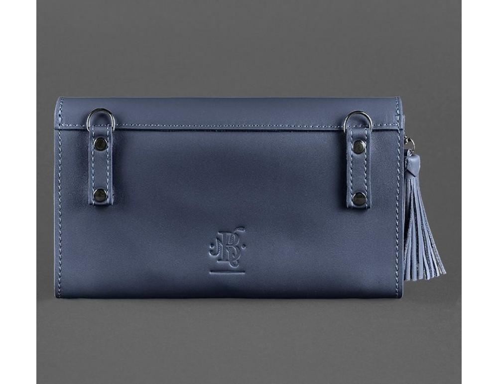 Кожаный клатч Элис blanknote BN-BAG-7-navy-blue тёмно-синий - Фото № 2