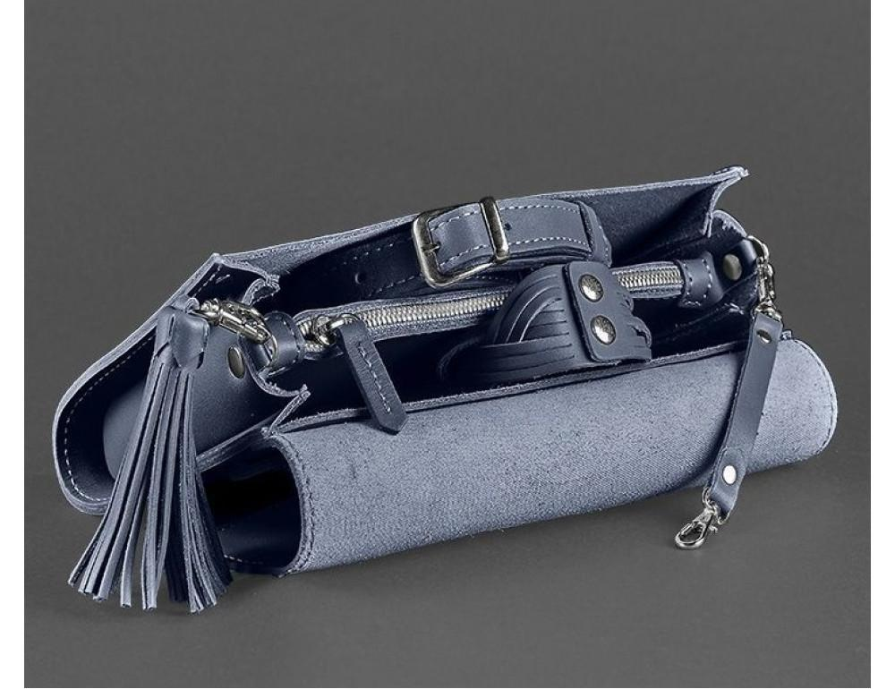 Кожаный клатч Элис blanknote BN-BAG-7-navy-blue тёмно-синий - Фото № 6