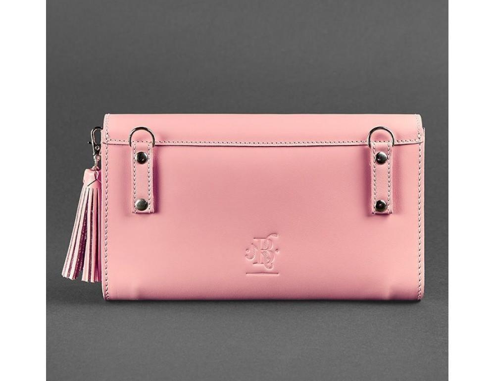 Кожаный клатч Элис blanknote BN-BAG-7-pink-peach пудровый - Фото № 4