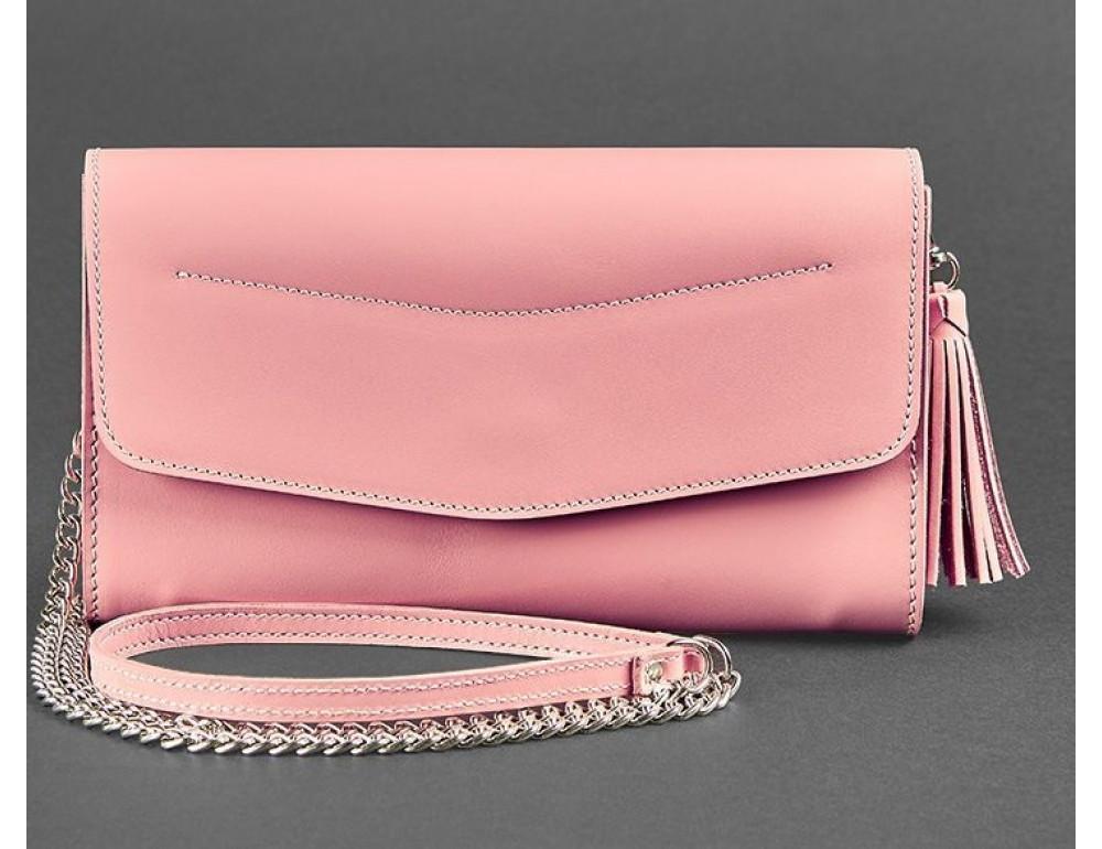 Кожаный клатч Элис blanknote BN-BAG-7-pink-peach пудровый - Фото № 5