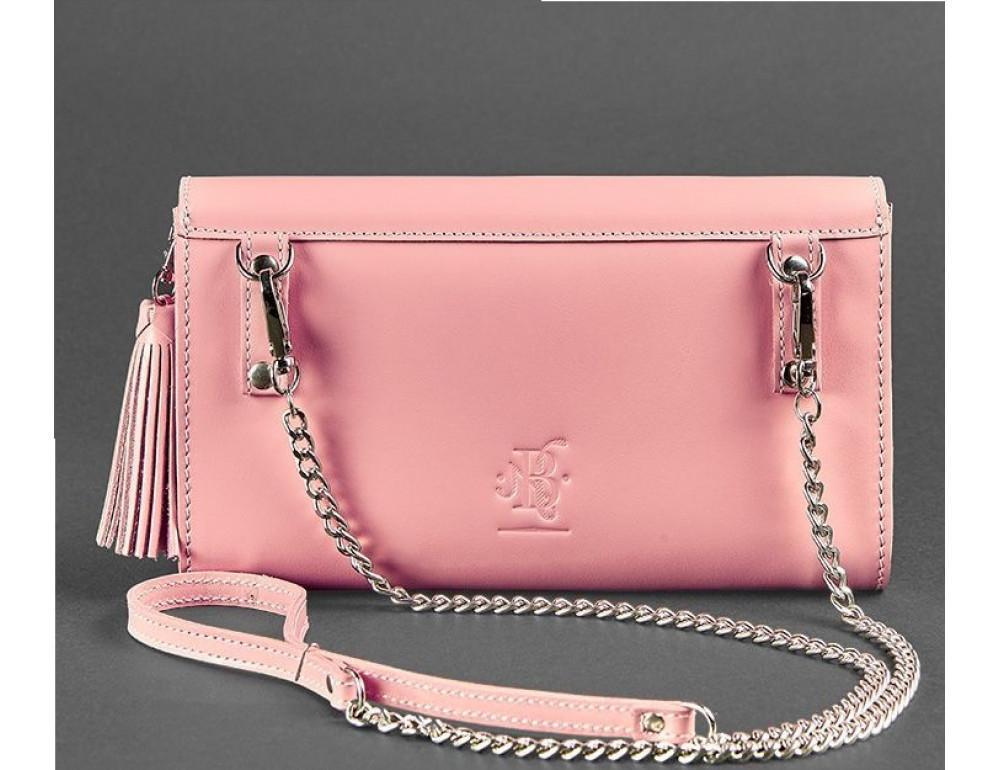 Кожаный клатч Элис blanknote BN-BAG-7-pink-peach пудровый - Фото № 6
