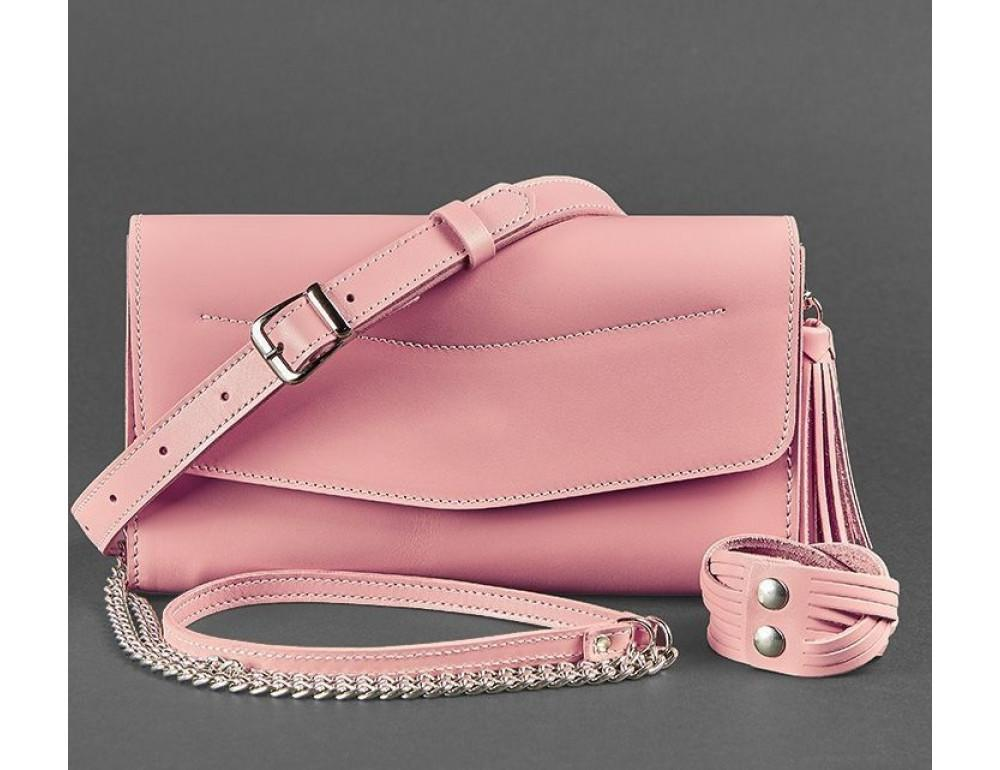 Кожаный клатч Элис blanknote BN-BAG-7-pink-peach пудровый - Фото № 7
