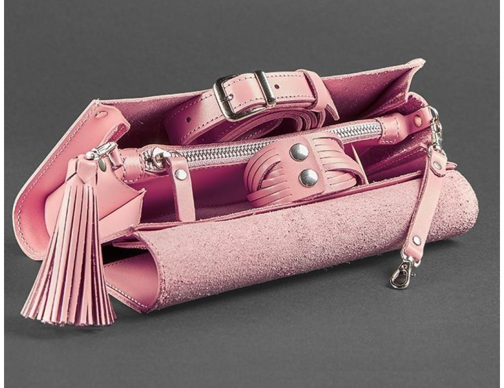 Кожаный клатч Элис blanknote BN-BAG-7-pink-peach пудровый - Фото № 3
