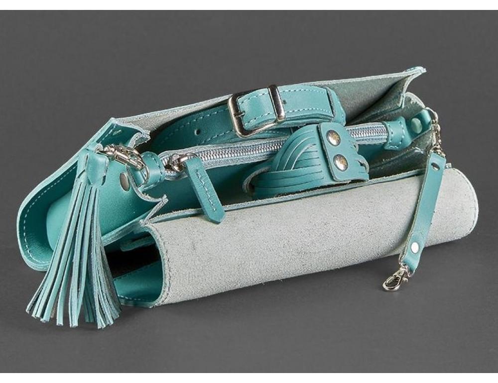 Кожаный клатч Элис Тиффани blanknote BN-BAG-7-tiffany бирюза - Фото № 6