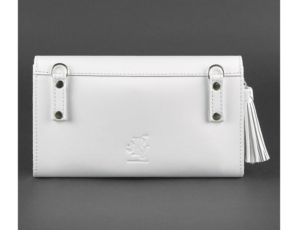 Кожаный клатч Элис blanknote BN-BAG-7-light белая - Фото № 2