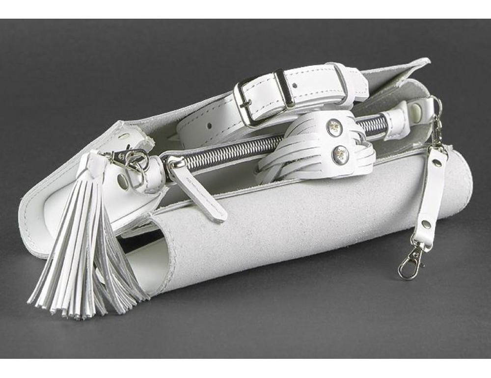 Кожаный клатч Элис blanknote BN-BAG-7-light белая - Фото № 6