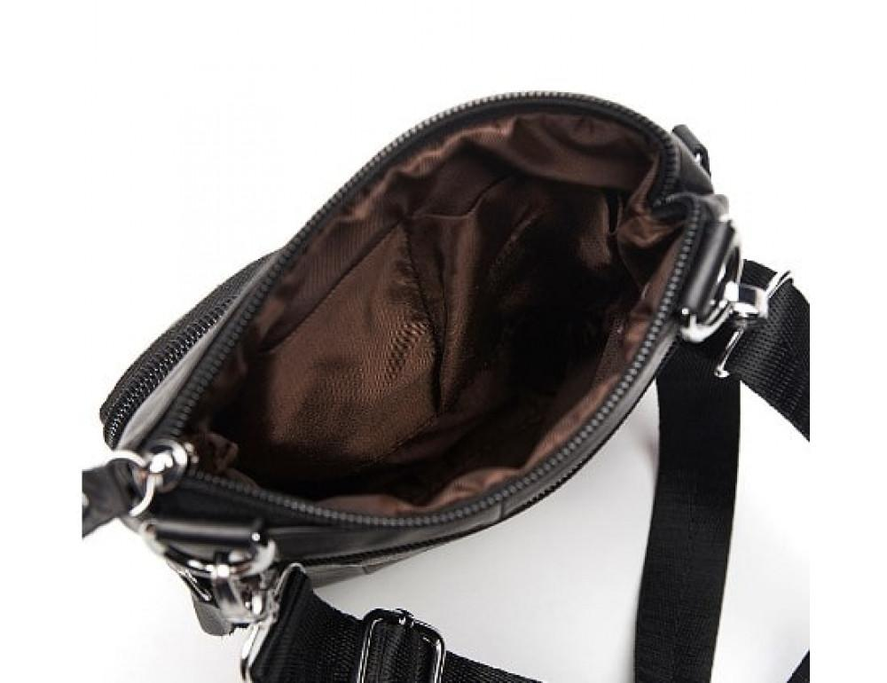 Мужская кожаная сумка-мессенджер Bexhill BX124A чёрная - Фото № 4