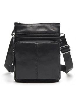 Мужская кожаная сумка-мессенджер Bexhill BX124A чёрная