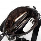 Мужская кожаная сумка-мессенджер Bexhill BX124A чёрная - Фото № 104