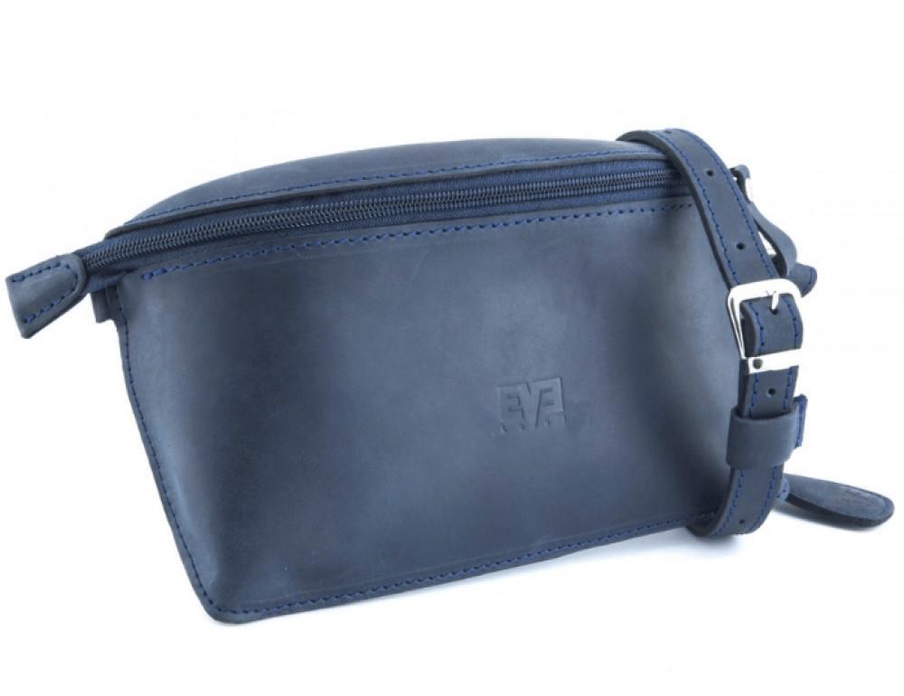 Шкіряна поясна сумка Level lv_vinograd_blue_ch синя