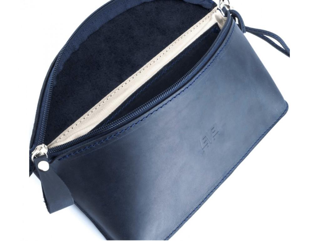 Кожаная поясная сумка Level lv_vinograd_blue_ch синяя - Фото № 2