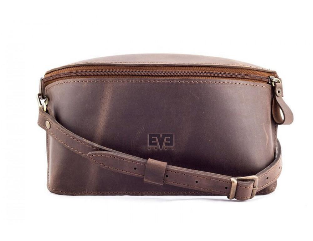 Шкіряна поясна сумка Level lv_vinograd_brn_ch коричнева