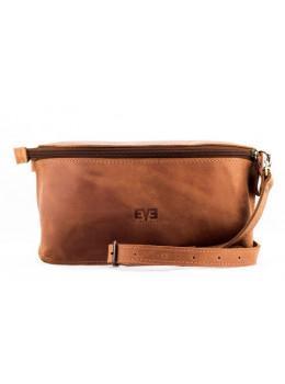 Кожаная поясная сумка Level LV_VINOGRAD_TAN_CH коричневая