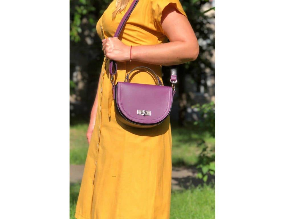 Жіноча сумка через плече B. Elit 0914pu фіолетовий - Фотографія № 2