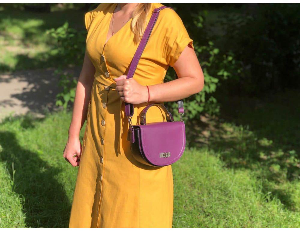 Жіноча сумка через плече B. Elit 0914pu фіолетовий - Фотографія № 5