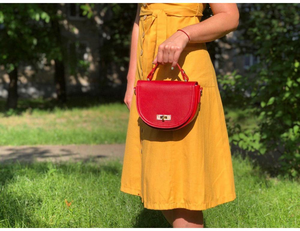 Женская сумка через плечо B. Elit 0914R красная - Фото № 2