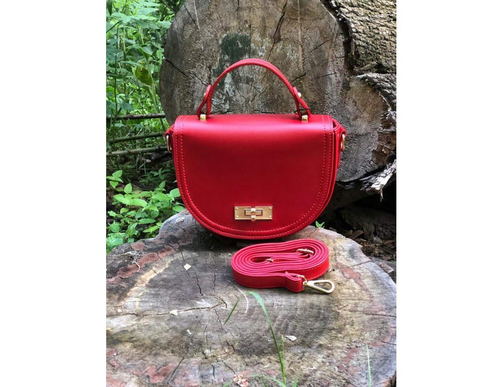Женская сумка через плечо B. Elit 0914R красная - Фото № 3