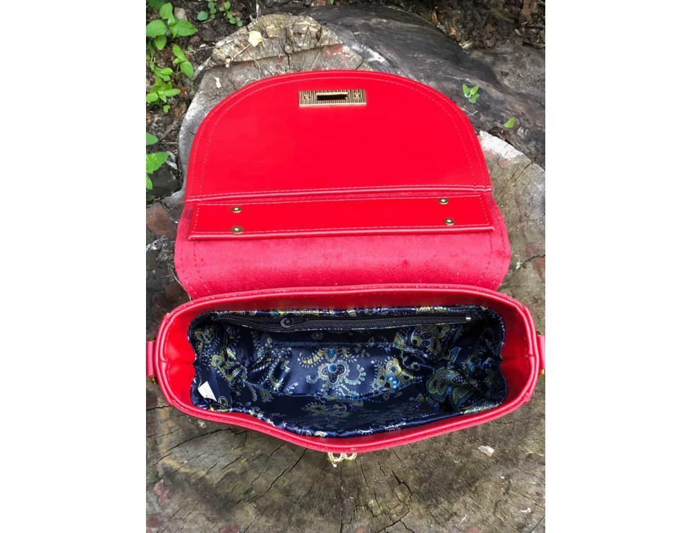 Женская сумка через плечо B. Elit 0914R красная - Фото № 5