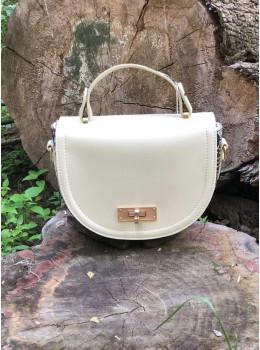 Женская сумка через плечо B. Elit 0914W молочная