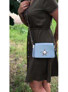 Маленькая сумочка со звёздочкой 1901Bl голубая
