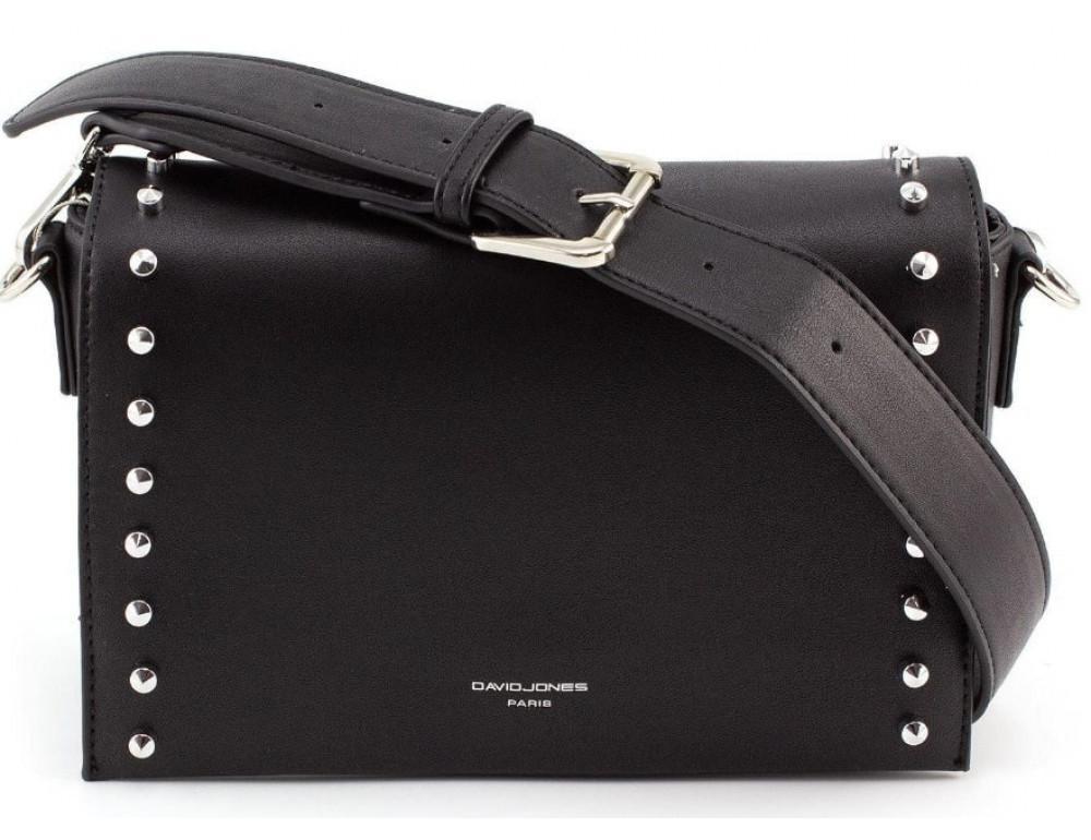 Женская прямоугольная сумка David Jones 5822-1T black чёрная