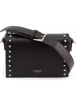 Жіноча прямокутна сумка David Jones 5822-1T black чорна