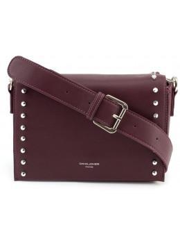 Женская прямоугольная сумка David Jones 5822-1T d.bordeaux бордовый