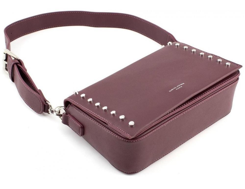 Женская прямоугольная сумка David Jones 5822-1T d.bordeaux бордовый - Фото № 5