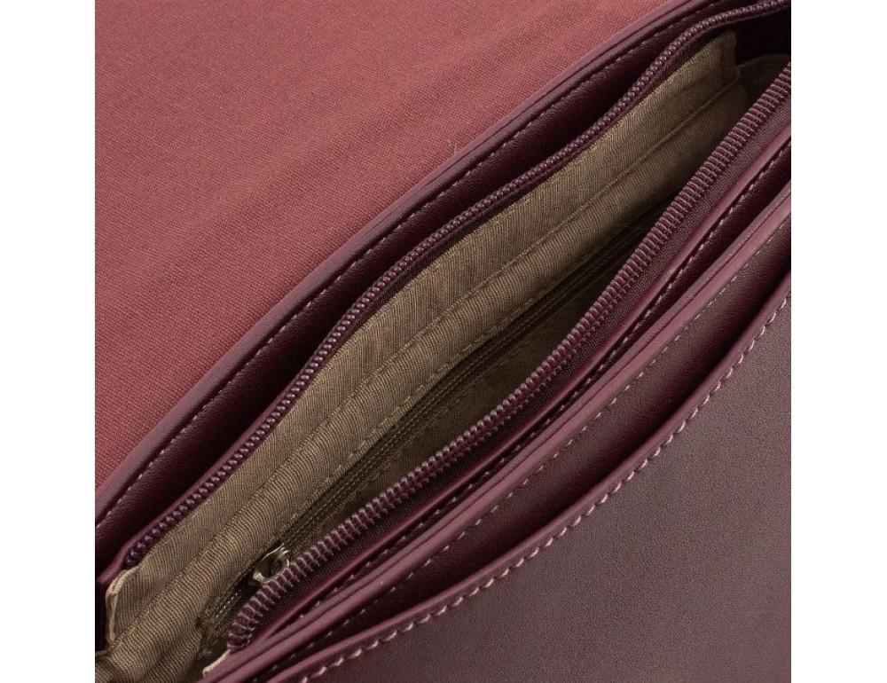 Женская прямоугольная сумка David Jones 5822-1T d.bordeaux бордовый - Фото № 6