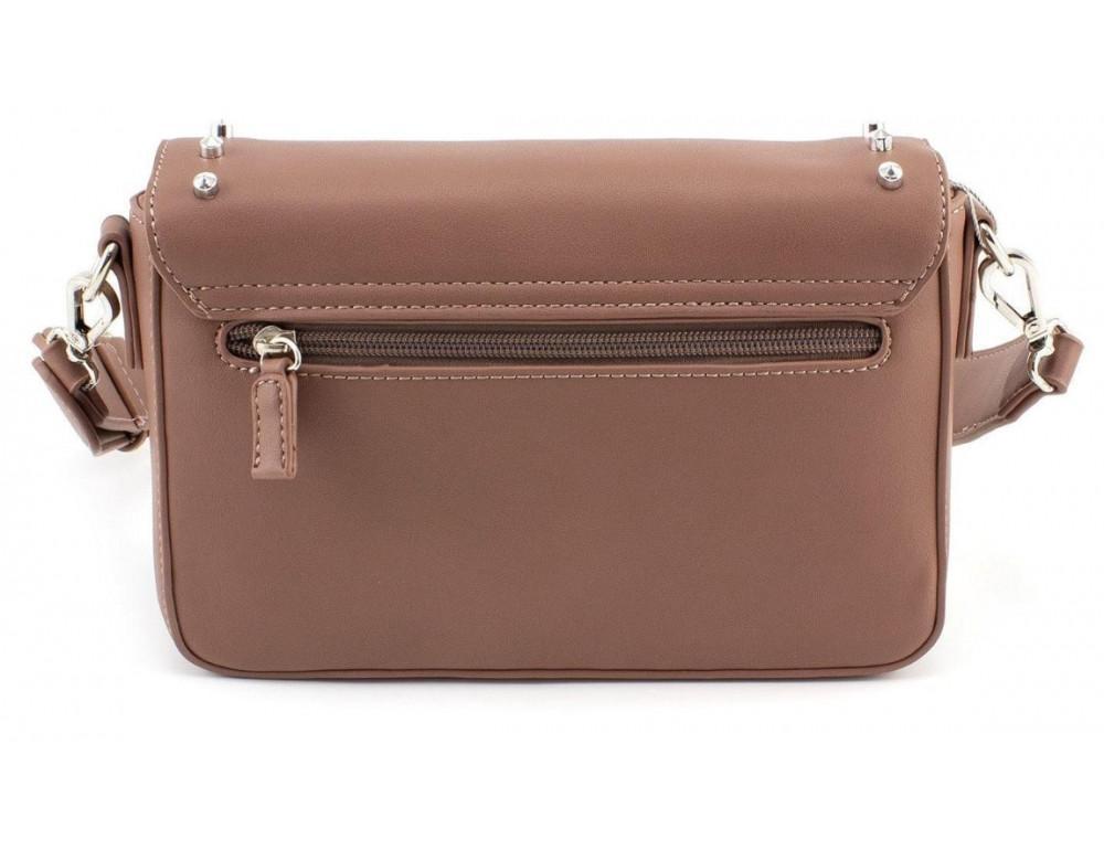 Женская прямоугольная сумка David Jones 5822-1T d.pink темная пудра - Фото № 2
