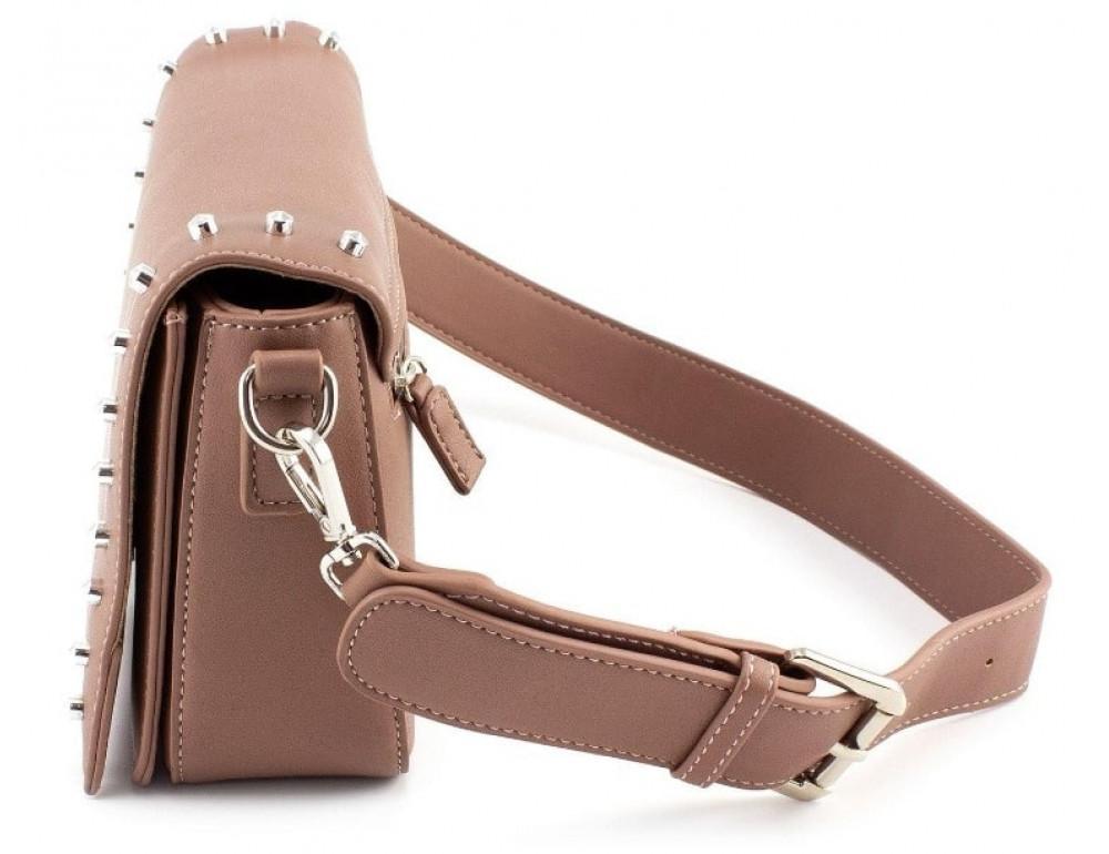 Женская прямоугольная сумка David Jones 5822-1T d.pink темная пудра - Фото № 3
