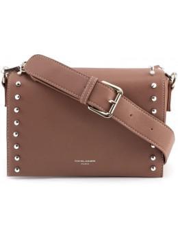 Женская прямоугольная сумка David Jones 5822-1T d.pink темная пудра