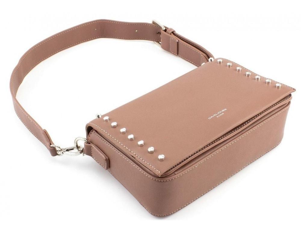 Женская прямоугольная сумка David Jones 5822-1T d.pink темная пудра - Фото № 5