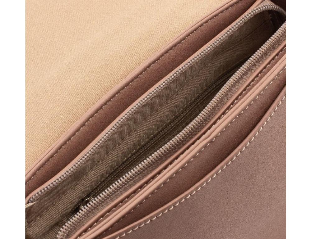 Женская прямоугольная сумка David Jones 5822-1T d.pink темная пудра - Фото № 6