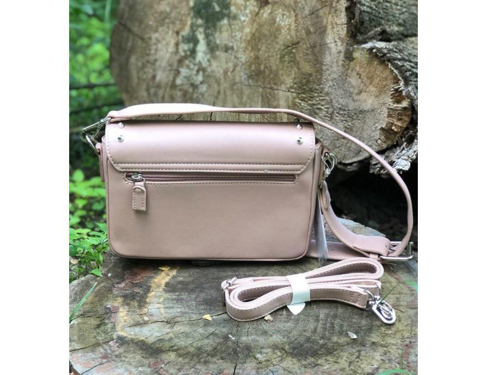 Женская прямоугольная сумка David Jones 5822-1T Pink пудровая - Фото № 3