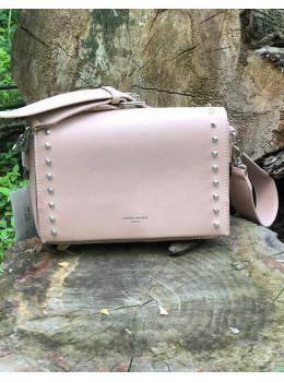 Женская прямоугольная сумка David Jones 5822-1T Pink пудровая
