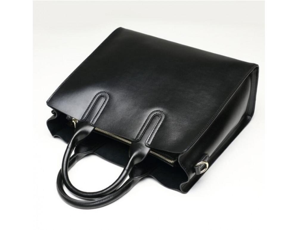 Кожаная сумка Grays 8644A Чёрная - Фото № 4