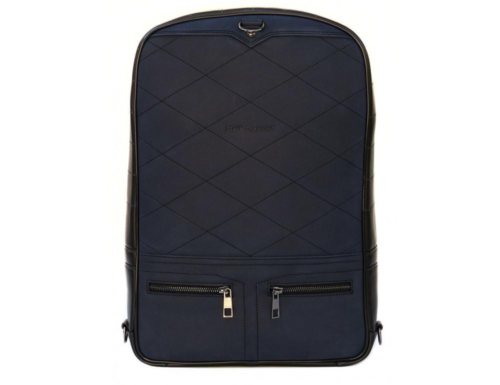 Кожаный рюкзак Black Diamond bd15ad черно-синий - Фото № 2