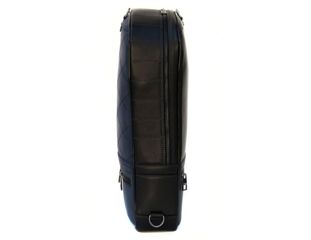 Кожаный рюкзак Black Diamond bd15ad черно-синий - Фото № 3