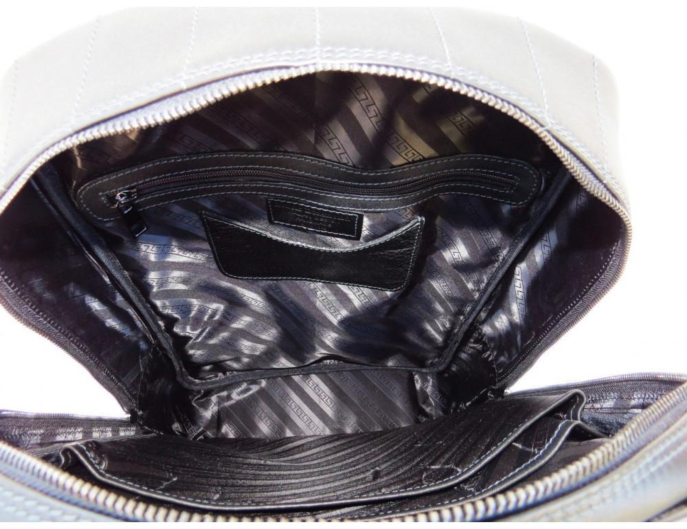 Кожаный рюкзак Black Diamond bd15ad черно-синий - Фото № 5