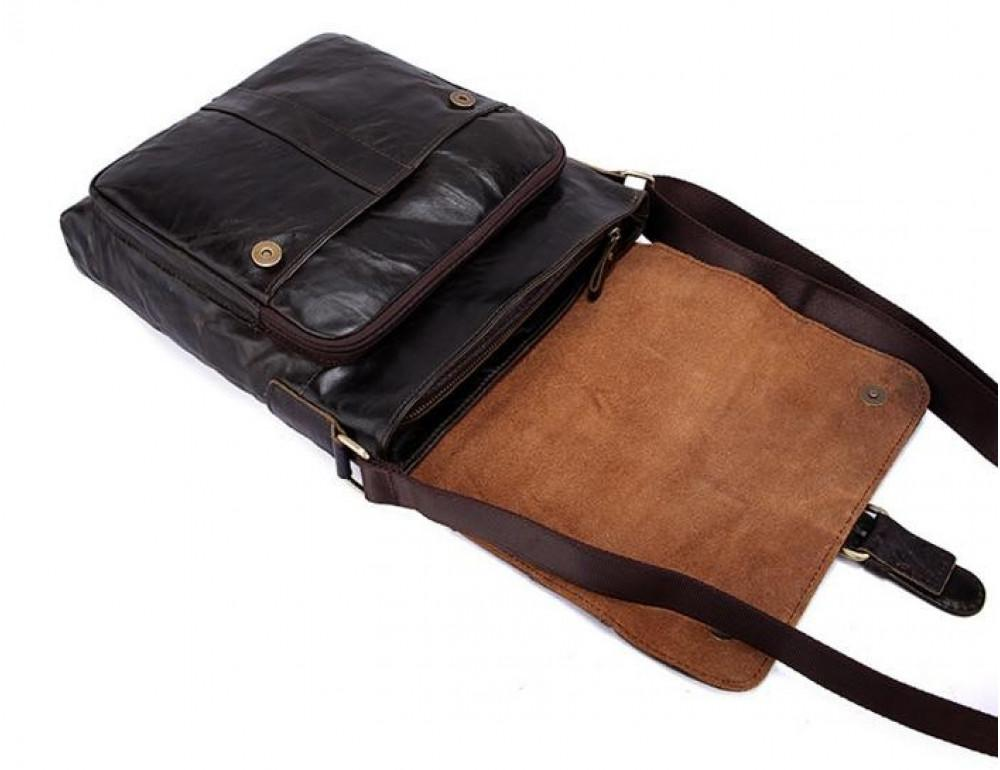 Мужская кожаная сумка-мессенджер Bexhill Bx1292C - Фото № 7