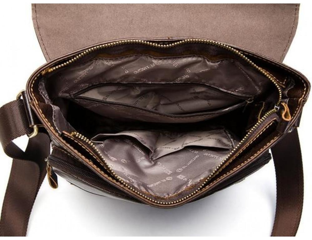 Мужская кожаная сумка-мессенджер Bexhill Bx1292C - Фото № 8