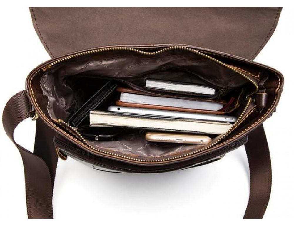 Мужская кожаная сумка-мессенджер Bexhill Bx1292C - Фото № 6