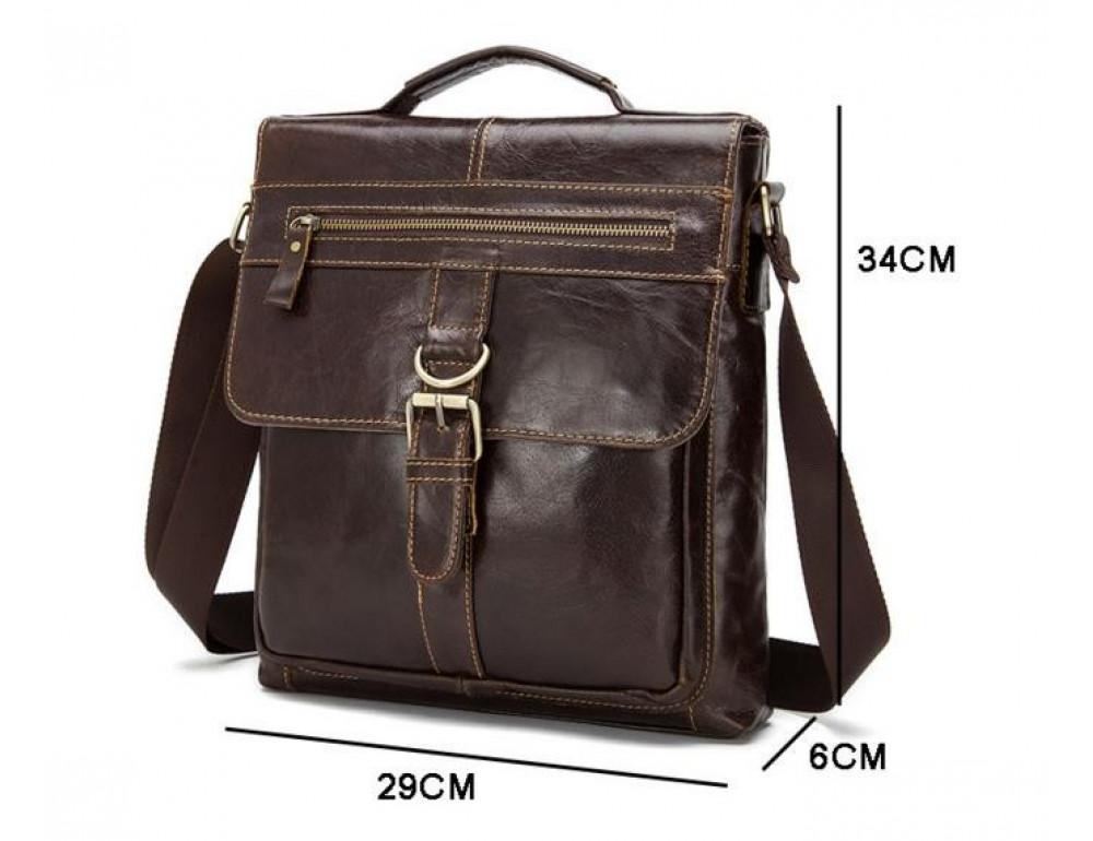 Мужская кожаная сумка-мессенджер Bexhill Bx1292C - Фото № 4