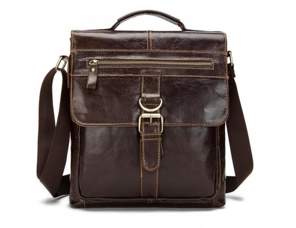 Мужская кожаная сумка-мессенджер Bexhill Bx1292C - Фото № 5