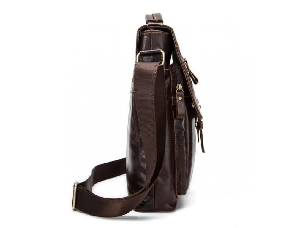 Мужская кожаная сумка-мессенджер Bexhill Bx1292C - Фото № 3