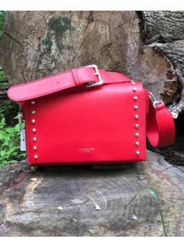 Женская прямоугольная сумка David Jones 5822-1T Red красная