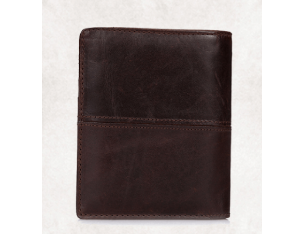 Мужской кожаный коричневый портмоне Bexhill bx0233C - Фото № 2